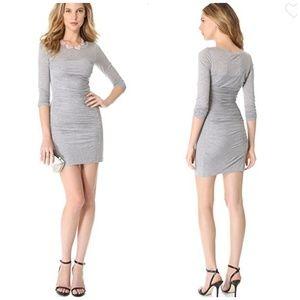 DVF   NWT  Sexy Lersosa Ruched Silk  blend dress